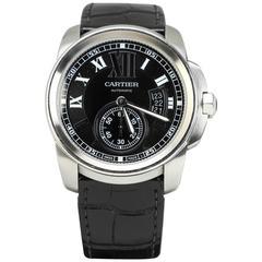 Cartier Stainless Steel Calibre de Cartier Automatic Wristwatch
