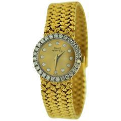 Piaget Yellow Gold Diamond Bracelet Quartz Wristwatch