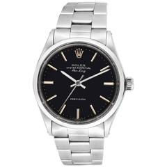 Rolex Stainless Steel Air King Automatic Wristwatch