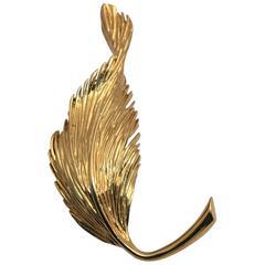 Van Cleef & Arpels Gold Leaf Brooch