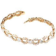 5 Carat Diamond Gold Link Bracelet