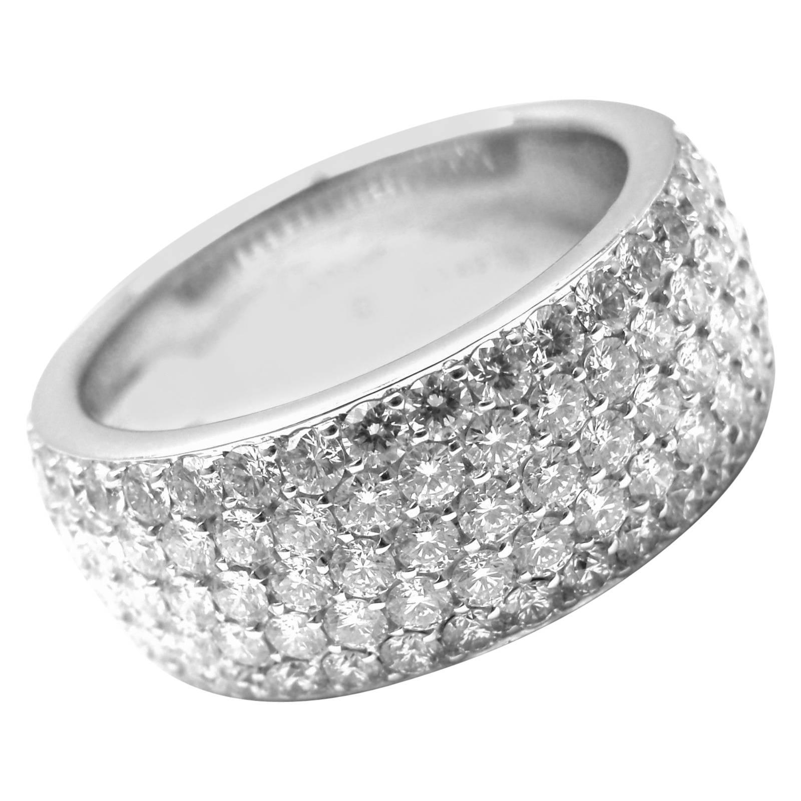 Cartier Diamond Gold Wide Band Ring