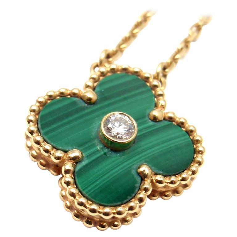 Van cleef and arpels limited edition alhambra malachite diamond gold van cleef arpels limited edition alhambra malachite diamond gold necklace for sale aloadofball Choice Image
