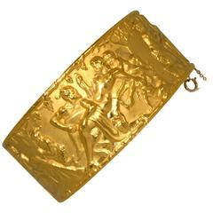 Carrera y Carrera Gold Bangle Bracelet