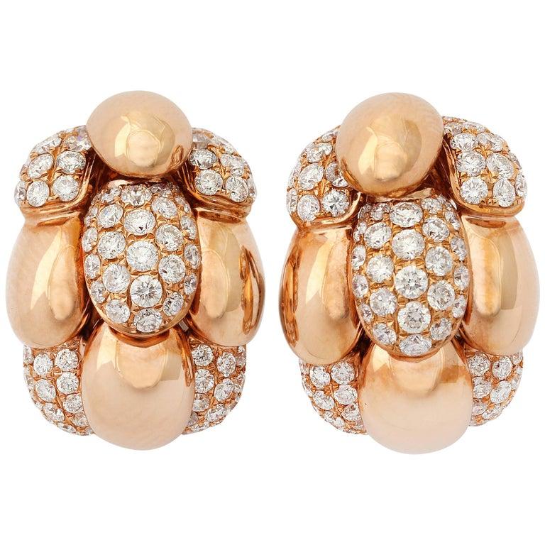 Diamond Rose Gold Earrings