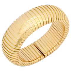 Gold Spring Loaded Tubogaz Bracelet