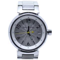 Louis Vuitton Ladies Stainless Steel Tambour Wristwatch