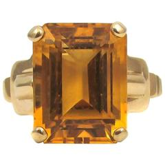 1950s Tiffany & Co. Citrine Gold Ring