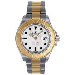 Rolex Yellow Gold Stainless Steel Yachtmaster Sport Automatic Wristwatch