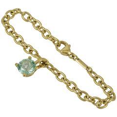 Chopard Blue Topaz Happy Diamond Gold Bracelet