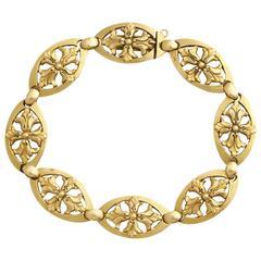 French Art Nouveau Gold Bracelet