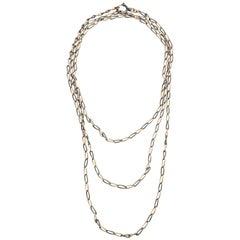 Fantastic Extra Long Victorian Niello Chain