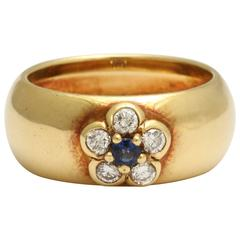 Van Cleef & Arpels Diamond and Sapphire Ring