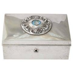 19th Century American Silver Love Letter Box