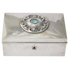 Amercan 19th Century Silver Love Letter Box