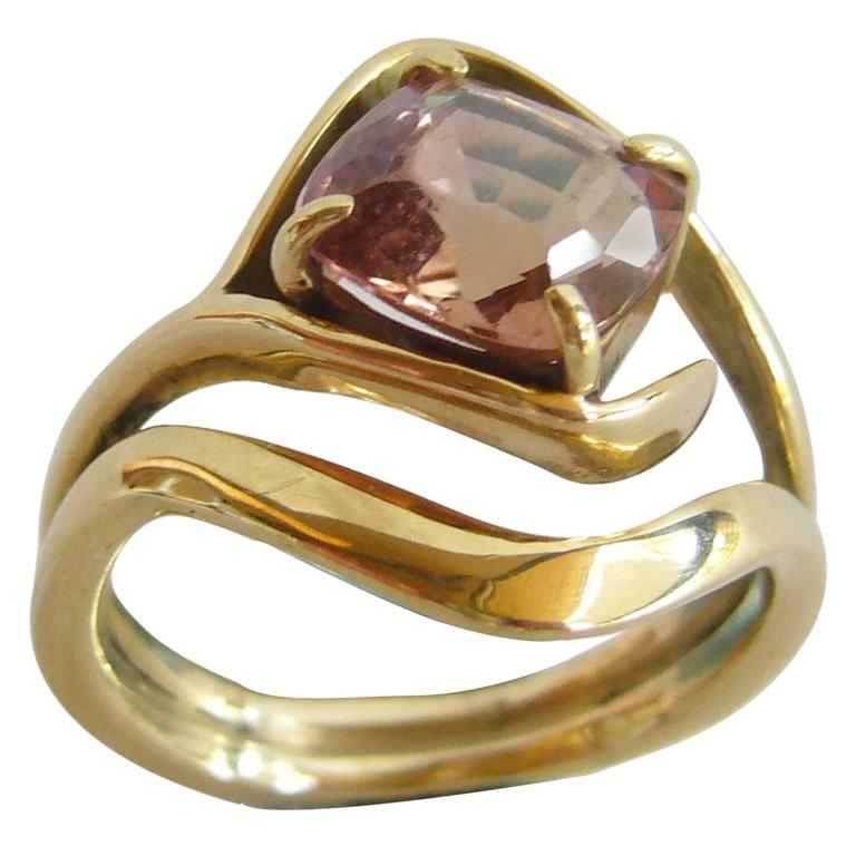Jack Nutting Champagne Tourmaline Gold Ring At 1stdibs