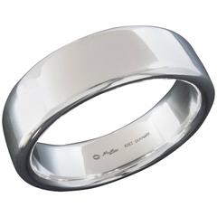 Georg Jensen Hans Hansen Wide and Sleek Modernist Silver Bangle Bracelet