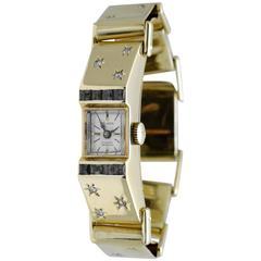 Alomo De Apostolo Yellow Gold Diamond Bracelet Wristwatch