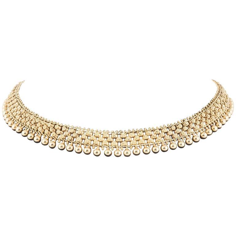 19th Century English Gold Collar Necklace 1