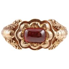 Georgian Garnet Gold Ring