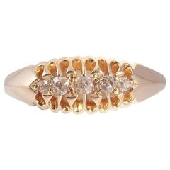 Victorian Diamond Gold Ring