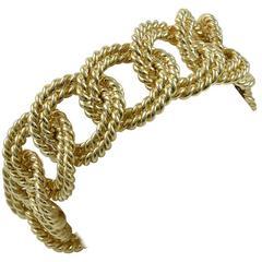 Verdura Gold Rope-Link Bracelet