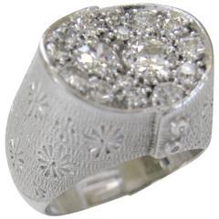 Rene Kern Diamond Cluster Ring Circa 1970