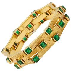 1960s Spritzer and Fuhrmann Tourmaline Gold Bracelet