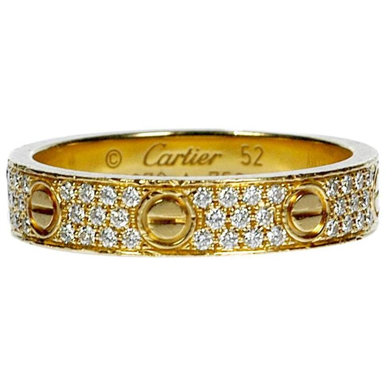 Cartier Diamond Gold Love Wedding Band Ring  1