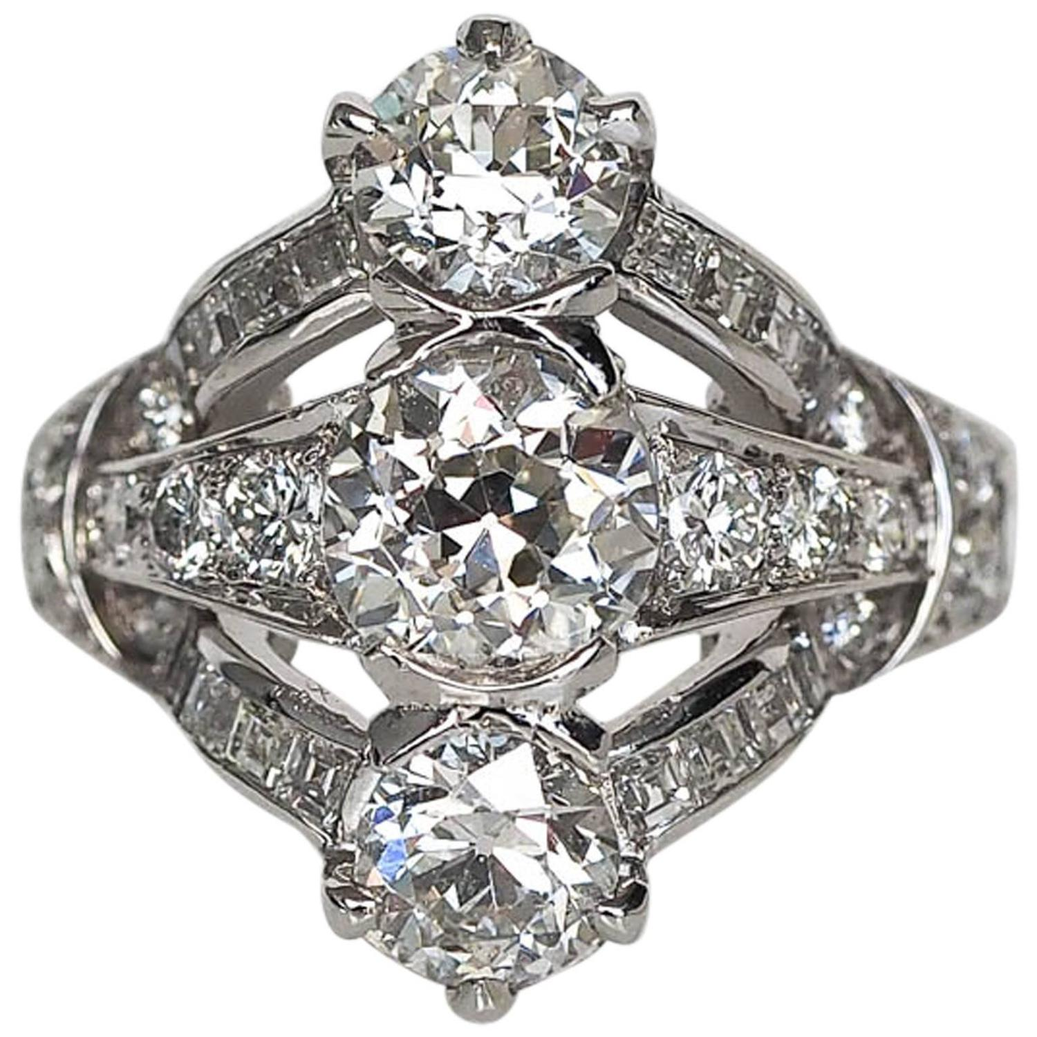 1920s and co deco platinum engagement ring for sale at 1stdibs