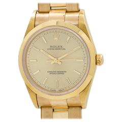 Rolex Yellow Gold Oyster Perpetual Automatic Wristwatch Ref 14208 1997