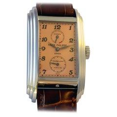 Patek Philippe Platinum Salmon Dial 10 Day Tourbillon Wristwatch Ref 5101P