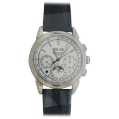 Patek Philippe White Gold Grand Complications Chronograph Wristwatch
