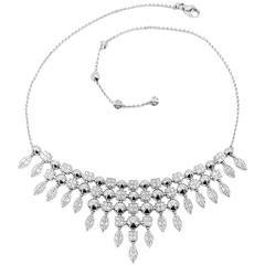 Stunning Bulgari Lucea 5 Carats Diamonds Gold Necklace