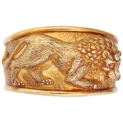 Diamond Gold Lion Cuff