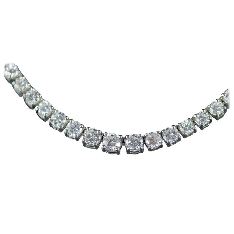 15 Carats Diamonds Platinum Necklace