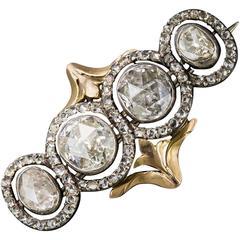 Georgian Rose-Cut Diamond Brooch
