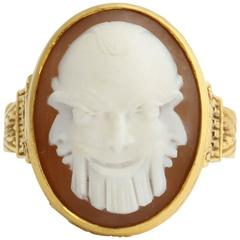 Antique Classical Greek Cameo Gold Ring