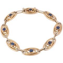 Edwardian Sapphire Gold Bracelet