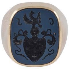 Sardonyx Intaglio Gold Signet Ring