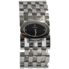 Fred Stainless Steel Diamond Pretty Woman Wristwatch