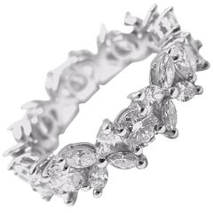Tiffany & Co. Diamond Platinum Victoria Eternity Band Ring