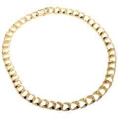 1988 Tiffany & Co. France Gold Link Necklace