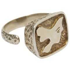 "1962 Georges Braque Silver ""Circe"" Ring"