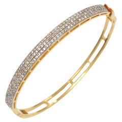 22 Karat Gold and Diamond Bracelet