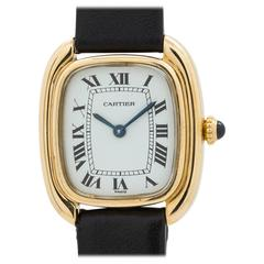 "Cartier Ladies Yellow Gold ""Gondole"" Wristwatch"