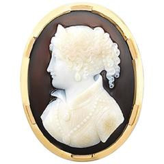 French Oval Cameo Brooch
