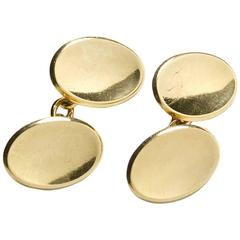 1968 Oval Gold Cufflinks