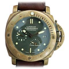 Panerai Bronze Luminor Bronzo Submersible 3 Day Reserve Automatic Wristwatch