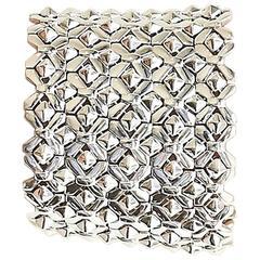 Stephen Webster Superstud Sterling Silver Wide Flexible Bracelet